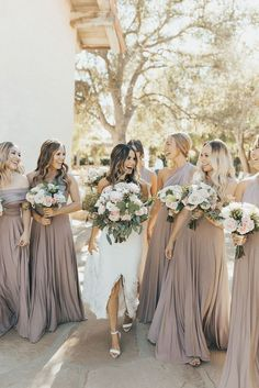 New Wedding Party Neutral Bridesmaid Dresses Ideas Neutral Bridesmaid Dresses, Bridesmaids And Groomsmen, Wedding Bridesmaids, Wedding Dresses, Bride Maid Dresses, Champagne Bridesmaid Dresses, Beautiful Bridesmaid Dresses, Bridal Party Dresses, Bridesmaid Gowns