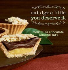 la Madeleine's mini chocolate tart will definitely satisfy your sweet tooth today! Bon Appétit! #laMadeleine