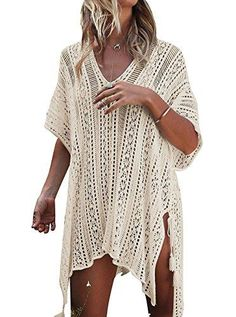 7951629e83 HARHAY Women s Summer Swimsuit Bikini Beach Swimwear Cover up Beige –  Videos.Images.Pictures