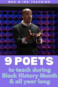 Poetry from Black poets should be looked at all year long, but we pause in February to celebrate the these great contributions with our students in our ELA classrooms during Black History Month in February. Use any of these poems for a powerful lesson in your ELA classroom. Have students analyze poetry and imitate poetry and create their own. Middle School Ela, Middle School English, Poetry Activities, Reading Activities, Poetry Lessons, Reading Lessons, Black Poets, Learning To Pray, Poetry Foundation