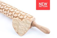 Wooden Engraved Cookie Roller UK Welsh Terrier Embossing Rolling Pin with Dog