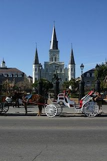 The St. Louis Cathedral is the heart of old New Orleans