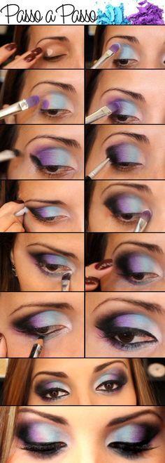 36 Ideas Diy Makeup Tutorial Step By Step Colorful Eyeshadow For 2019 Love Makeup, Diy Makeup, Makeup Art, Makeup Tips, Beauty Makeup, Makeup Looks, Makeup Ideas, Makeup Tutorials, Purple Makeup