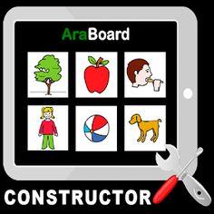 AraBoard Constructor. Es un conjunto de herramientas diseñadas para la comunicación alternativa y aumentativa, cuya finalidad es facilitar la comunicación funcional, mediante el uso de imágenes y pictogramas, a personas que presentan algún tipo de dificultad en este ámbito.