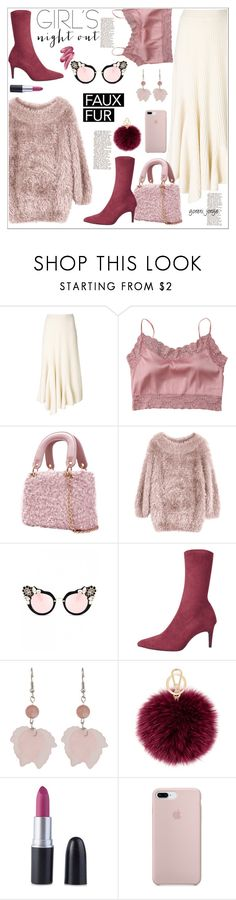 """""""Girls Night out"""" by goreti ❤ liked on Polyvore featuring Ports 1961, Satìne, Furla and Clinique"""