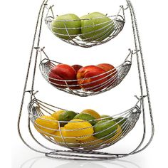 If you are tired of your small and sloppy-looking kitchen, then buying the Kitchen Basket of your choice from the authentic Stainless Steel Baskets Manufacturers is what you need to choose for making your kitchen to look more spacious and utilizing each and every space in an efficient manner, inexpensively. Fruit And Vegetable Storage, Fruit Storage, Vegetable Bowl, Pantry Storage, Storage Baskets, Kitchen Baskets, Kitchen Dining, Kitchen Items, Rustic Kitchen