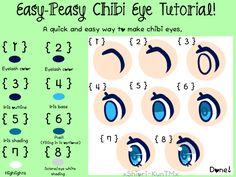 Easy-Peasy Chibi Eye Tutorial! How to draw chibi eyes!  /coloring/