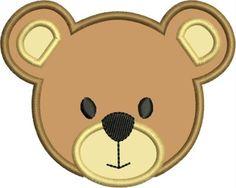 Bear Face teddy bear machine embroidery applique designs