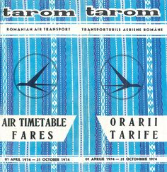 Tarom Timetable Summer 1974