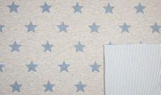 Stoff Tiermotive - Jersey Doubleface Sterne Streifen blau - ein Designerstück von naehschaetzchen bei DaWanda