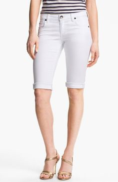KUT from the Kloth Cuffed Bermuda Shorts available at Nordstrom Modest Shorts, Style Challenge, Matching Outfits, Flow, Bermuda Shorts, Denim Shorts, Nordstrom, Women's Fashion, Apple