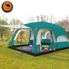 430*305*200cm 10-12 Person Large C&ing Tents Waterproof Beach Tent Pop & Outdoor Camping Hiking Large Instant Pop Up Tent - Double Doors ...