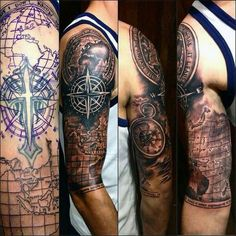 50 world map tattoo designs for men adventure the globe map 50 world map tattoo designs for men adventure the globe map tattoos tattoo and tattoo designs gumiabroncs Gallery