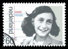 Netherlands Postage Stamp Showing An Image Of Anne Frank, Who ...