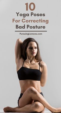 Practicing these yoga poses for correcting bad posture to strengthen your core and back muscles. This will help you improve your posture and stand taller. 10 Yoga Poses For Correcting Bad Posture Yoga Poses For Back, Cool Yoga Poses, Standing Yoga Poses, Beautiful Yoga Poses, Yoga For Back Pain, Neck And Back Pain, Yoga Fitness, Physical Fitness, Health Fitness