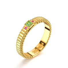 Decorum 14K Yellow Gold 0.17 Ct Peridot Modern by DecorumRings