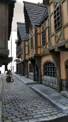 Chris Da Silva Providence – Medieval City Port Miniature – by Chris Da Silva Fantasy Town, Fantasy House, Medieval Fantasy, Fantasy Village, Medieval Houses, Medieval Town, Detail Architecture, Classical Architecture, Minecraft Medieval