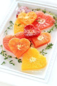 Citrus also pair very nicely with a few fresh herbs like mint and honey and orange blossom water :) Spread the love . Sweetheart Citrus Salad with Cinnamon Maple Syrup {vegan, grain free, gluten free, refined sugar free}
