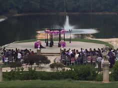 lakeside gazebo purple