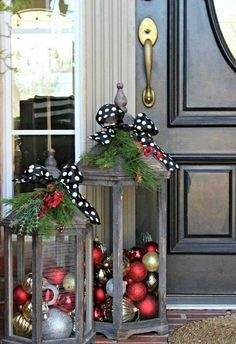 these are the BEST Homemade Christmas Decorations &…, DIY Christmas Lanters.these are the BEST Homemade Christmas Decorations &… DIY Christmas Lanters.these are the BEST Homemade Christmas Decorations &…. Noel Christmas, Christmas Projects, Winter Christmas, Christmas Porch Ideas, Christmas Ornaments, Silver Ornaments, Xmas Ideas, Simple Christmas, Christmas 2019