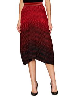 M Missoni Stripe Midi Drape Skirt