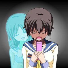 Seiko: hey we can still text even when i'm dead! Naomi: Seiko i'm sorry! Seiko: no really I forgive you stop crying! Naomi: oh why seiko why!