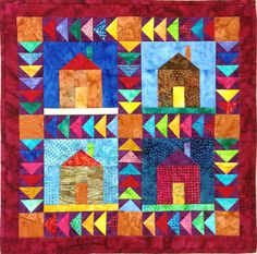 Welcome home paper pieced wall hanging