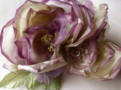 Double Silk Rose in Antique Mauve for Bridal, Hats, Corsages, Floral Supply MF