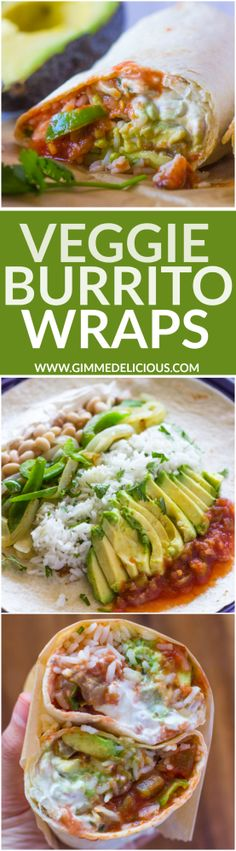Quick Veggie and Rice Burritos remove sour cream to make it vegan