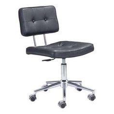Work hard and play hard with the adjustable Shane Desk Chair. Its contemporary designer look is credited to high tech black mesh upholstery that cradles the body. Crafted with 100% durable rubber wheels, Shane is built to ensure that the office party never dies down. A great addition for your home whether you live in the country side or the busy city. 			          			             			                California residents: see   			                 			               ...