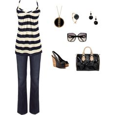 Black and Cream, created by missy5978 on Polyvore