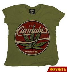 """Camiseta Cannabis""  morra  disponible en www.kingmonster.com.mx"