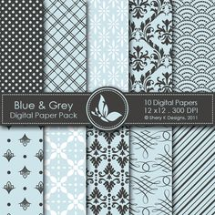 *This listing is for 10 printable High Quality Digital papers.  *Each paper measures 12 x 12 inch, 300 DPI.  *The files are in JPEG format.  *These papers can be printed on 11 x 8.5 inch size paper, and by any inkjet or laser printers.  *Great for scrapbooking, making cards, invitations, tags and photographers.