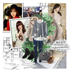"""YesStyle - 10% off coupon"" by lejla-djerzic ❤ liked on Polyvore featuring Dabuwawa, Attrangs, Naning9, Sankins, Furifs, Flore, Lose Show, GIMMAX Glasses, LineShow and Bayo"