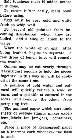 1937 household hints