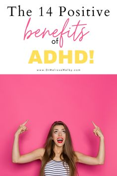 The benefits of ADHD exist. Many people with ADHD flourish despite challenges. There are positive traits of ADHD. Enhance them with these 14 ADHD benefits! ADHD strategies for kids. ADHD symptoms. ADHD diet. ADHD problems