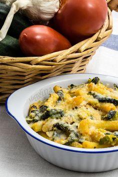 Pasta gratinata con robiola e zucchine