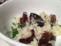Slippery Jack and Pine Mushroom Risotto