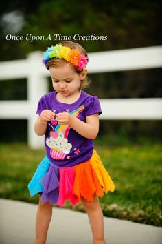 Candy Rainbow Birthday Star Headband  Tulle by OnceUponATimeTuTus
