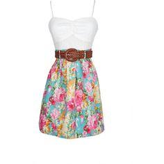 Tank Crochet Twofer Dress (73 QAR) ❤ liked on Polyvore featuring dresses, vestidos, casual dresses, floral, crochet dress, flower pattern dress, sleeveless crochet dress, floral sleeveless dress and no sleeve dress