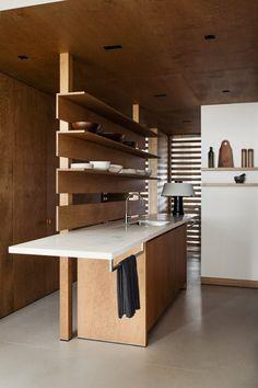 Eric Petschek Kitchen Interior, Home Interior Design, Interior Architecture, Kitchen Design, Bar Kitchen, Kitchen Island, Tulip Dining Table, Dining Nook, Wooden Panelling
