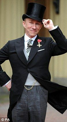 British fashion designer Jasper Conran poses for photographs after receiving his Order of the British Empire from the Prince of Wales, at Buckingham Palace, in London, on March Get premium, high resolution news photos at Getty Images British Style, British Fashion, Bouffant Hair, Jasper Conran, Evening Attire, Ladies Of London, Well Dressed Men, London Fashion, Street Style