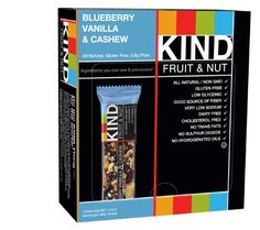 KIND Fruit & Nut, Blueberry Vanilla & Cashew, 1.4 Ounce, 12 Count