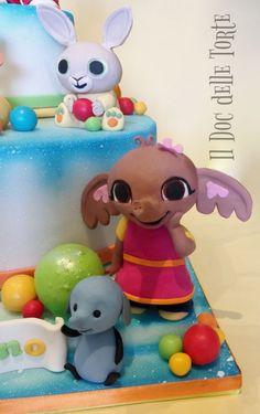 Bing cake - cake by Davide Minetti - CakesDecor Bing Cake, Bing Bunny, Fondant Animals, Fondant Toppers, Novelty Cakes, Cake Art, 3rd Birthday, Cake Decorating, Sugar Art