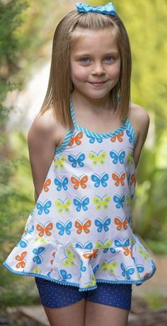 pdf sewing pattern for girls summer top Felicity Sewing Patterns