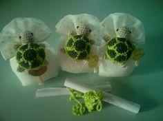 #bomboniere tartarughe amigurumi#