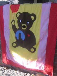 Bear with Balloon Baby Quilt . Starting at $5