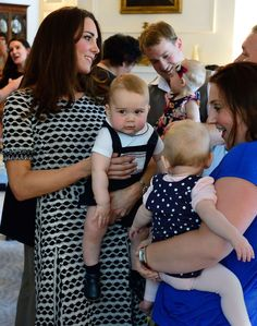 The Duchess of Cambridge with Prince George at Government House in Wellington, New Zealand