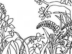 "A short demo of using overlapping to draw a jungle scene. Henri Rouseau""ish"""