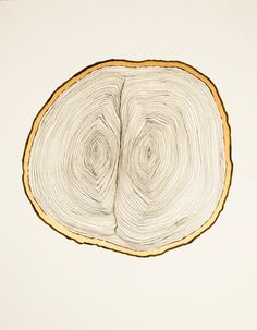 15 x 11 January 1 2012 From One  wood slice drawing by AldasProject, $100.00